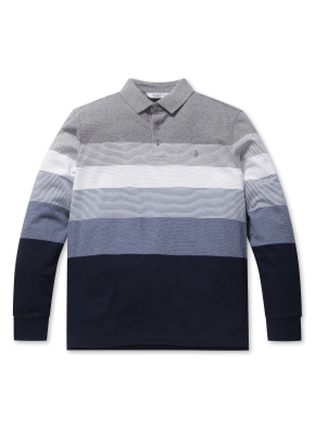 믹스 S/T 블록 카라 티셔츠 (BL)
