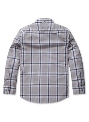 컬러 타탄 체크 스탠다드 셔츠 (GR)
