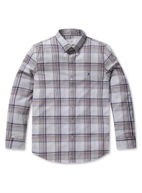 믹스 컬러 체크 컴포트 셔츠 (BE)