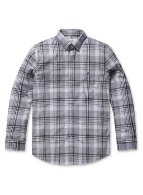 믹스 컬러 체크 컴포트 셔츠 (NV)