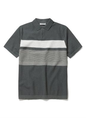 워셔블 반팔 블록 스웨터 티셔츠 (MT)