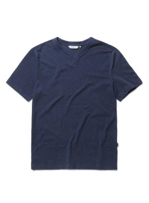 리플 슬릿넥 반팔 티셔츠 (DNV)