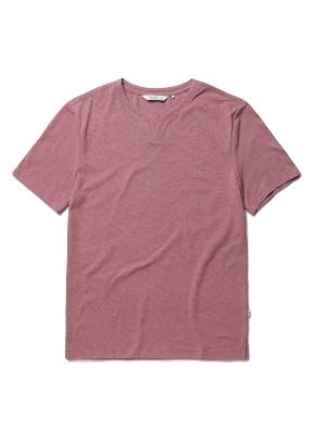 리플 슬릿넥 반팔 티셔츠 (DPK)