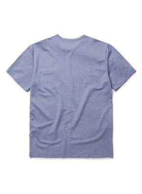 믹셀 스웨터라이크 포켓 반팔티셔츠 (BL)
