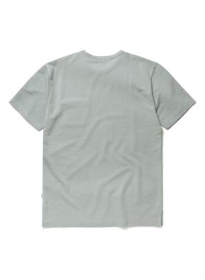 믹셀 스웨터라이크 포켓 반팔티셔츠 (LMT)