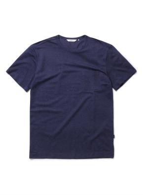 믹셀 스웨터라이크 포켓 반팔티셔츠 (NV)