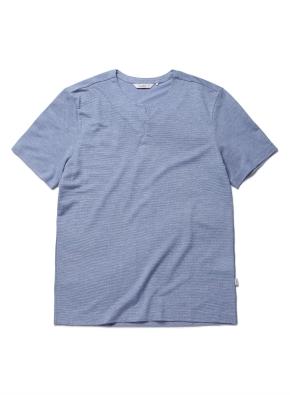 믹셀 피케 네치넥 반팔 티셔츠 (BL)