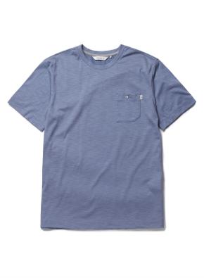 수피마 슬럽 포켓 라운드 반팔 티셔츠 (BL)