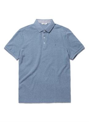 코튼 카라 반팔 티셔츠 (BL)