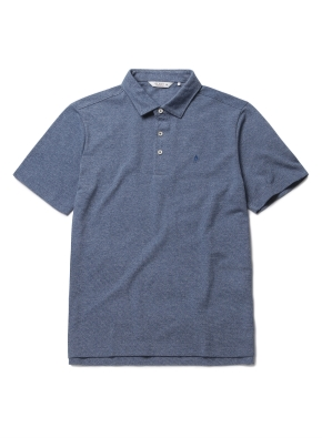 자수 리플 카라 반팔 티셔츠 (BL)