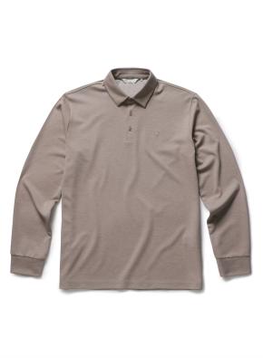 멜란 싱글 카라티셔츠