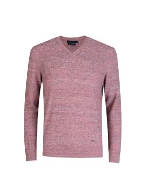 텍스쳐 브이넥 스웨터 (PK)