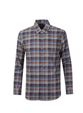 코튼 멜란지 멀티 체크 셔츠