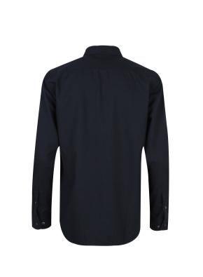 올리버 와펜 솔리드 셔츠 (NV)