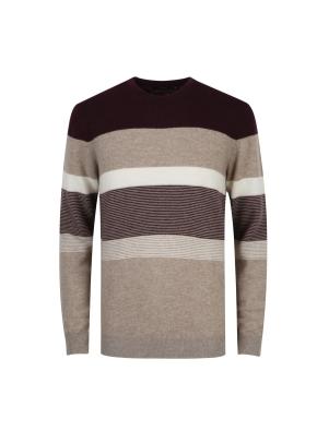 울혼방 컬러블럭 스웨터 (WN)