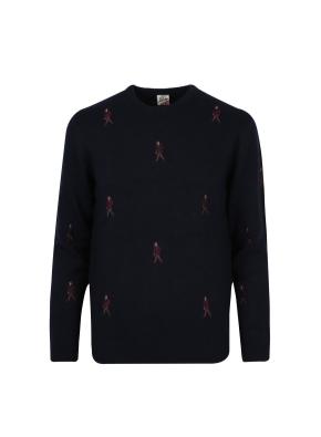 올리버 자수 스웨터 (NV)