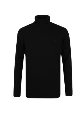 울캐시 터틀넥 스웨터 (BK)