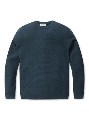 솔리드 라운드 스웨터 (DGN)