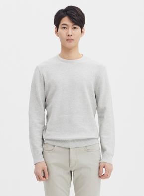 솔리드 라운드 스웨터 (GR)