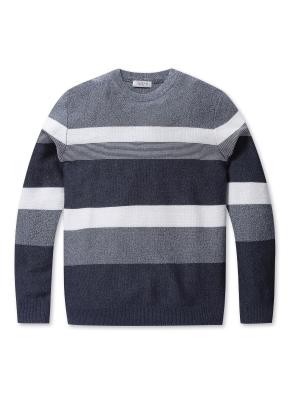 블록 라운드 스웨터 (BL)