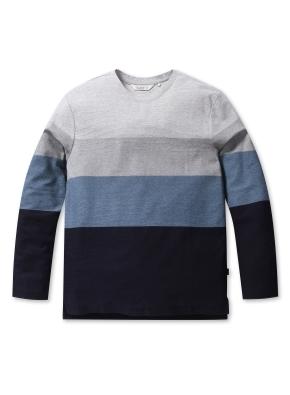조직변형 블록 티셔츠 (GR)