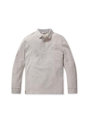 리플 솔리드 카라 티셔츠 (BE)