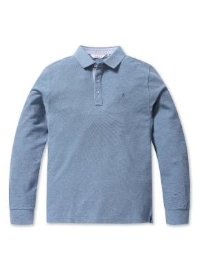 리플 솔리드 카라 티셔츠 (BL)
