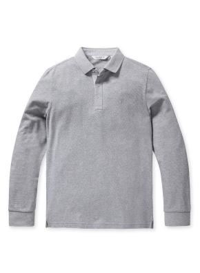 리플 솔리드 카라 티셔츠 (GR)
