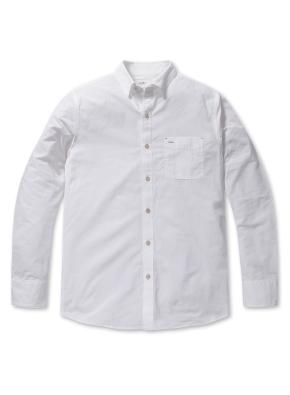 쿨코튼 솔리드 포켓 셔츠 (WT)