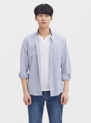 슬림 스트라이프 셔츠 (BL)