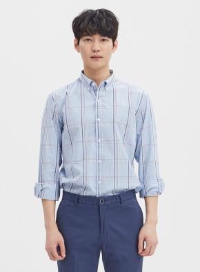 변형 윈도우체크 셔츠 (BL)