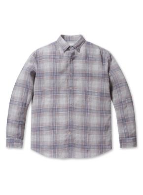 린넨 소프트 체크 셔츠 (LGR)