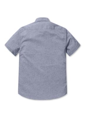 솔리드 이지케어 반팔 셔츠 (NV)