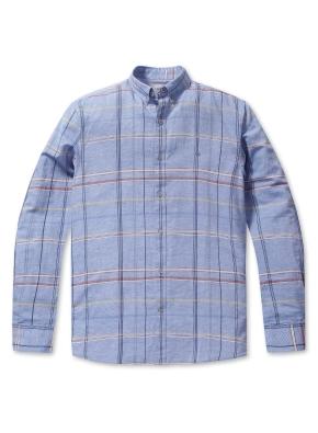 소프트 체크 셔츠 (BL)