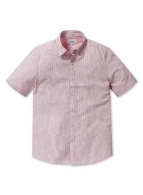 스트라이프 이지케어 반팔 셔츠 (PK)