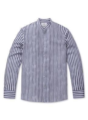 에어매쉬 헨리넥 셔츠 (BL)