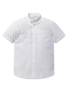 쿨코튼 솔리드 반팔 셔츠 (WT)