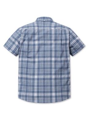 쿨코튼 체크 반팔 셔츠