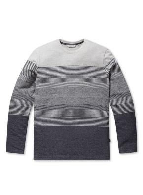 코튼 블럭 스트라이프 티셔츠 (NV)