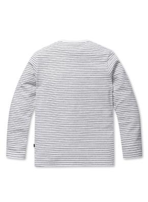 코튼 블럭 스트라이프 티셔츠 (WT)