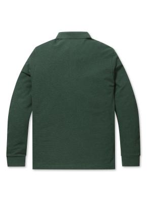 리플 솔리드 카라 티셔츠 (GN)