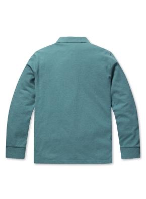 컬러 자수 카라 긴팔 티셔츠 (MT)
