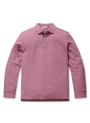 컬러 자수 카라 긴팔 티셔츠 (PK)