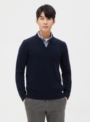 캐시미어 울 셔츠카라 스웨터 (NV)