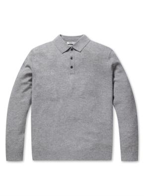 캐시미어 울 카라 스웨터 (GR)