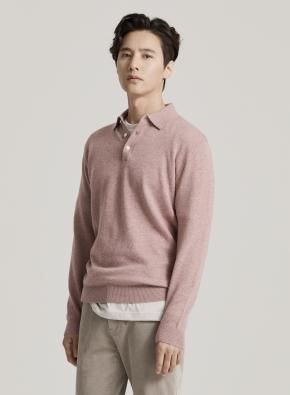 캐시미어 울 카라 스웨터 (PK)