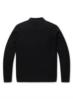 캐시미어 울 하프넥 스웨터 (BK)