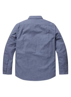 코튼 슬럽사 컬러 블랜드 셔츠 (BL)