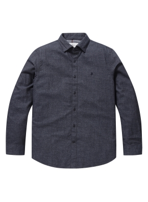 코튼 슬럽사 컬러 블랜드 셔츠 (NV)