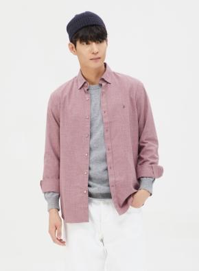코튼 슬럽사 컬러 블랜드 셔츠 (PK)